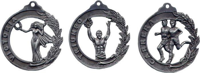medallas fundidas
